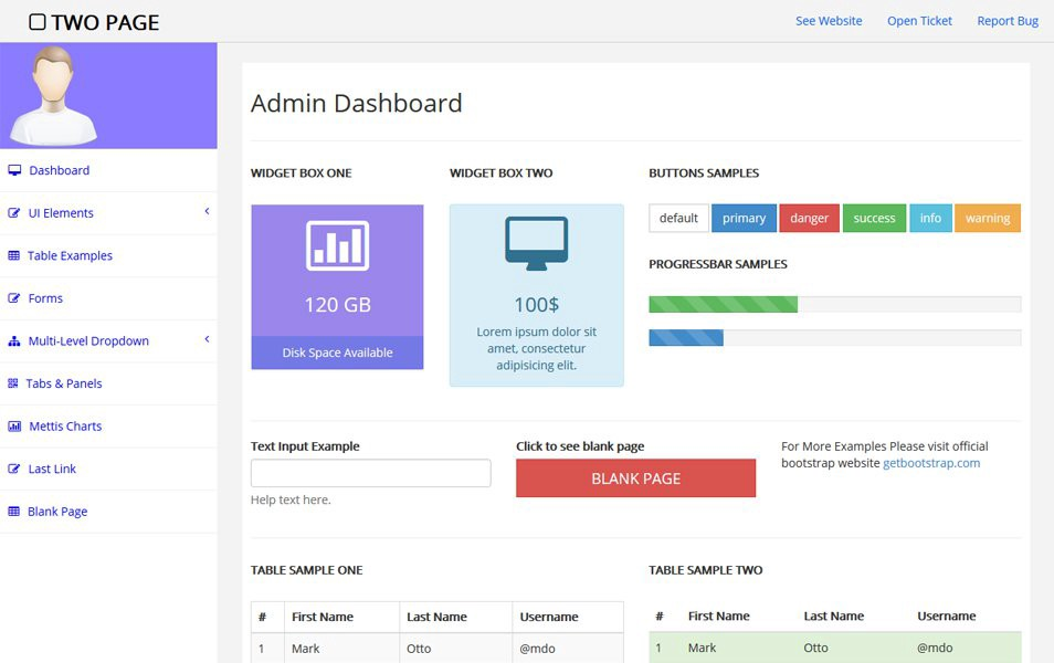 Two-Page-Free-bootstrap-admin-template