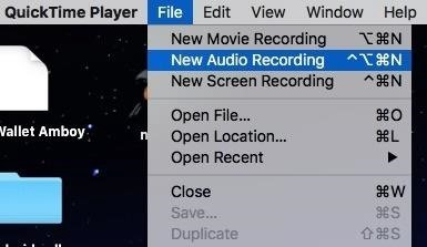 Method 4: Use QuickTime Player (Phone Calls & FaceTimes)