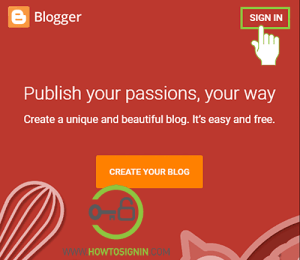 Blogspot Login — Sign in to Blogger for free blogging