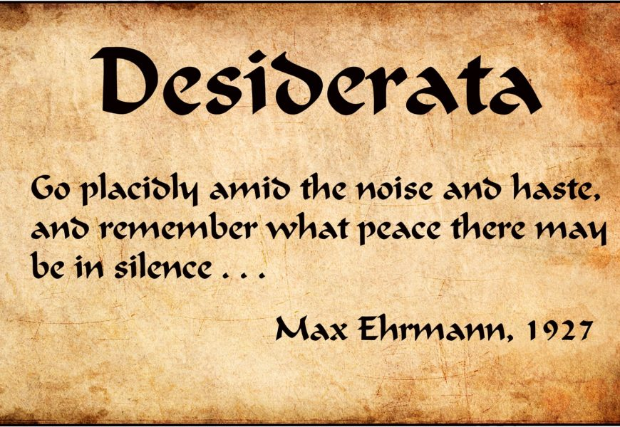The Meaning Behind the Desiderata Poem